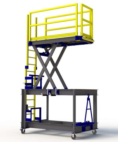FRP Composite B5 Aviation Maintenance Platform