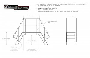 FRP Composite Standard Crossover Ladders
