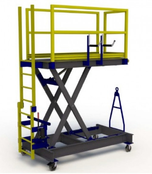 FRP Composite B4 Aircraft Maintenance Stand