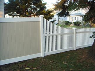 Custom Transition Vinyl Fence Panels