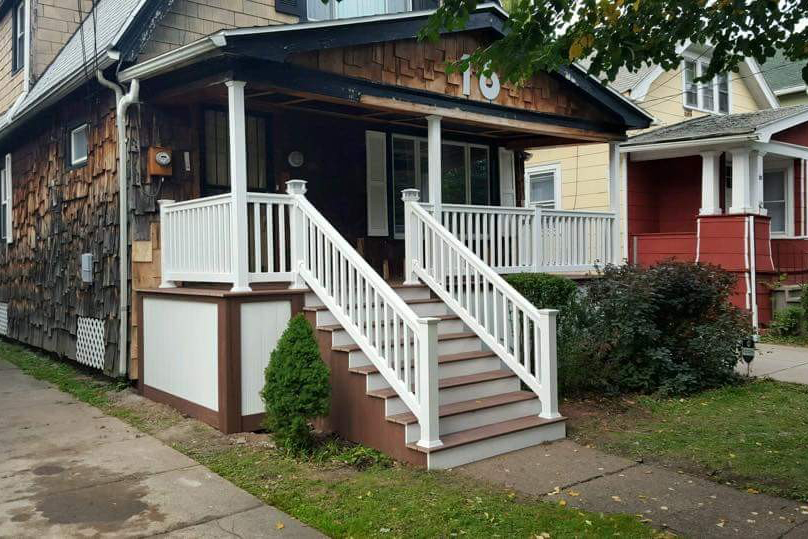 Front Porch Rebuild After