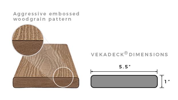 VEKAdeck Woodgrain pattern