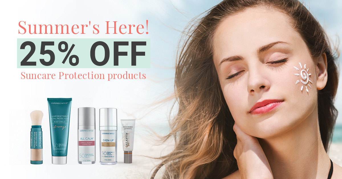 Summer is Here! Save 25% On Sun Protection Skincare Products