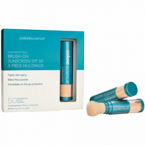Sunforgettable Total ProtectionBrush-On Shield SPF 50 Multipack