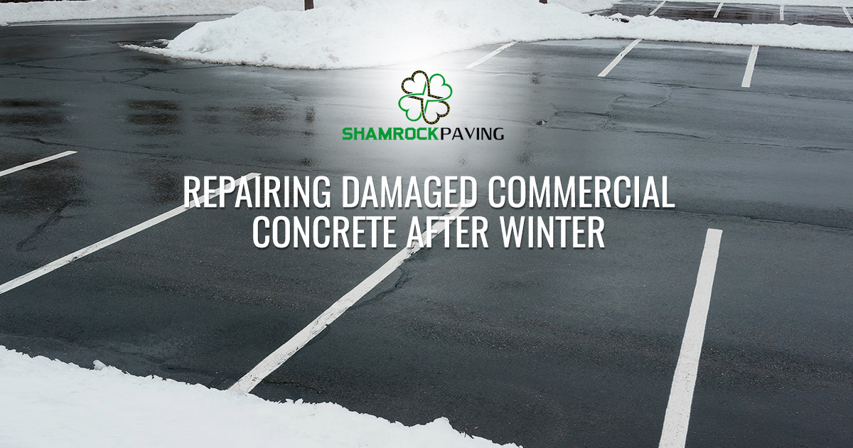 Repairing Damaged Commercial Concrete After Winter