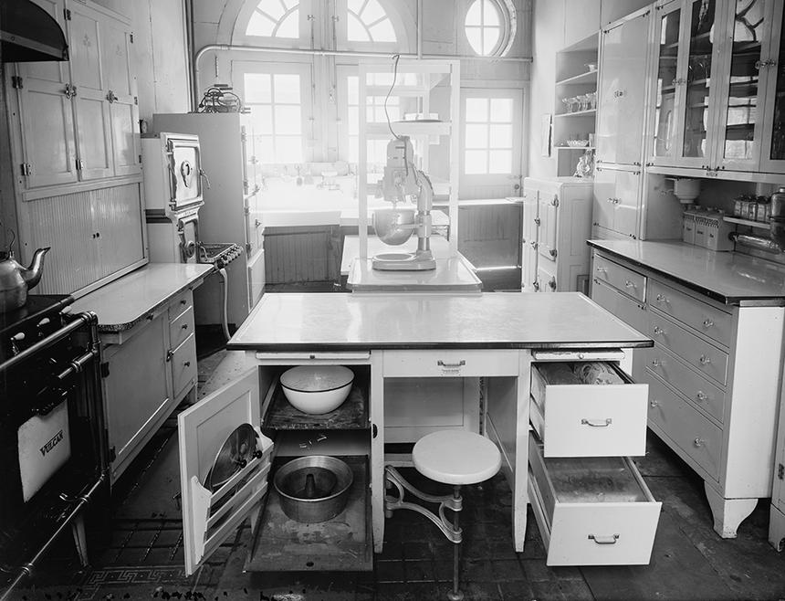 White Kitchen Cabinets in a 1920's Kitchen