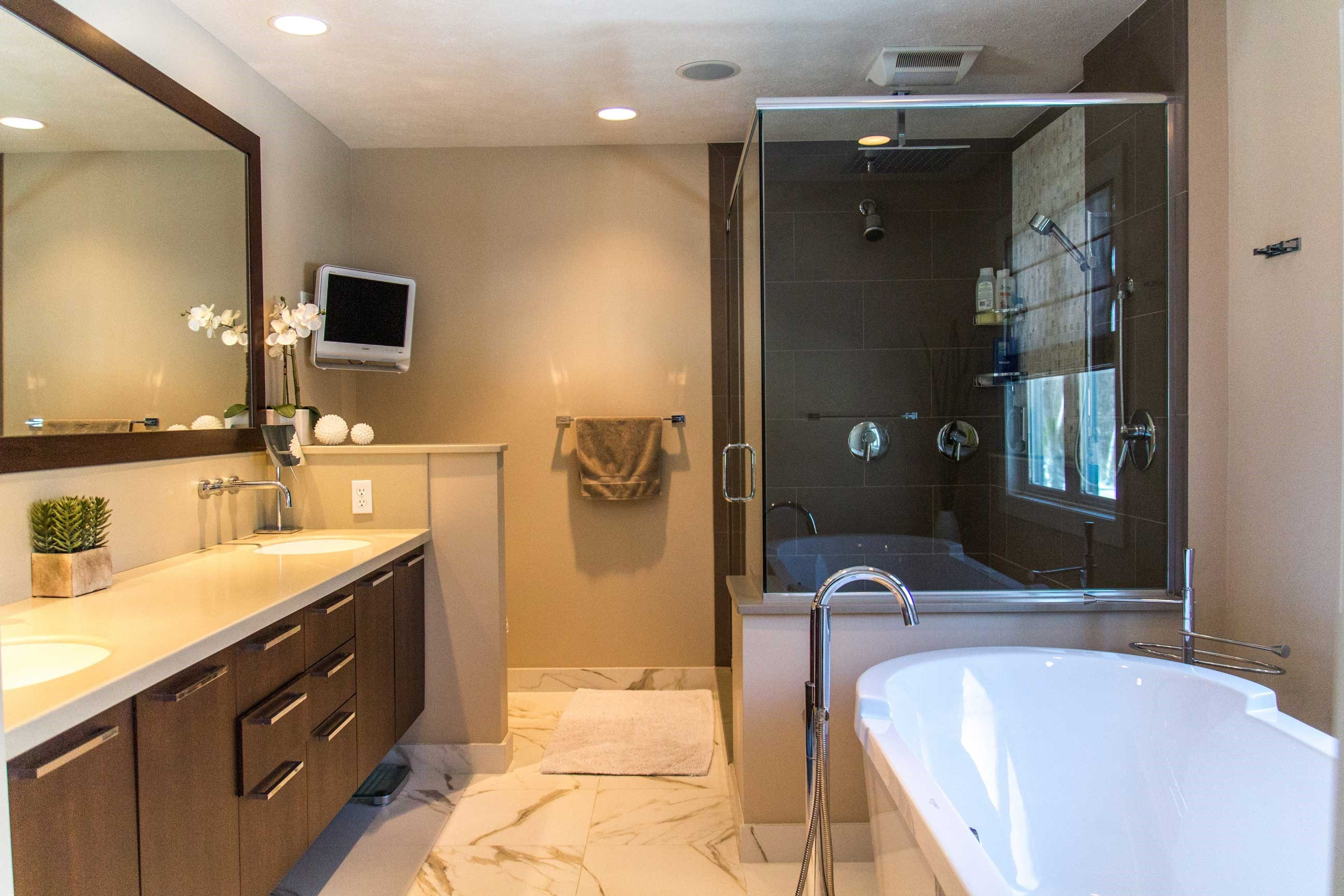 Floating Bathroom Vanity in Rochester, NY Bathroom Remodel