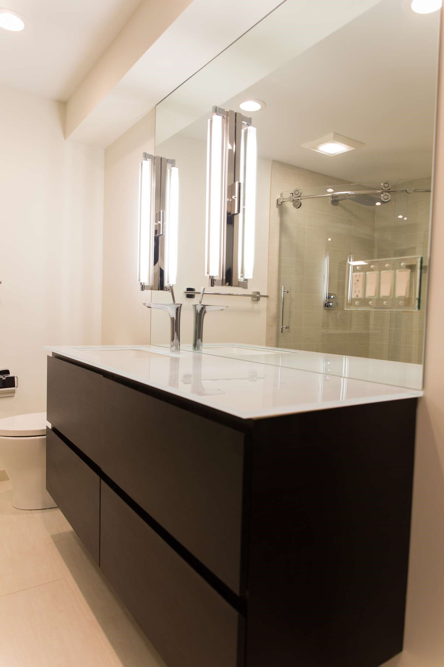Bathroom Remodel with Floating Vanity, Rochester, NY