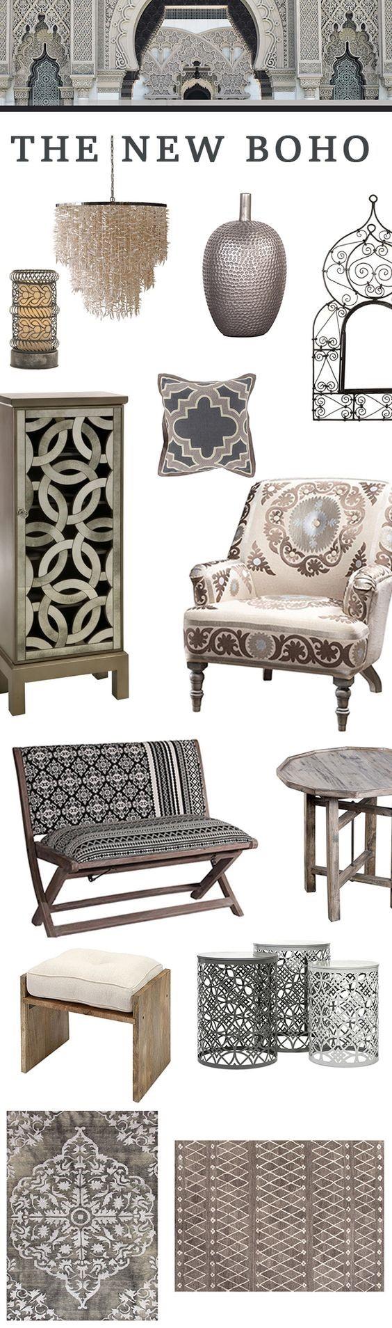 Arabesque shape in interior design