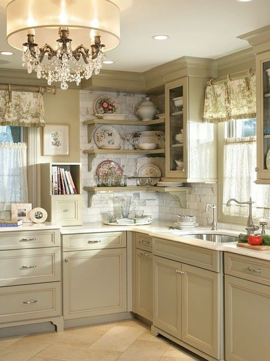 French Vanilla Color Kitchen Cabinets