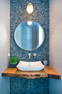 Blue Pebble Tile Mosaic