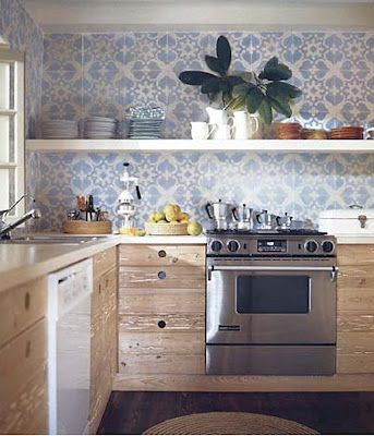 Cement Tile Kitchen Backsplash