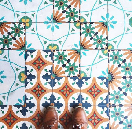 Cement Tile in the Foyer