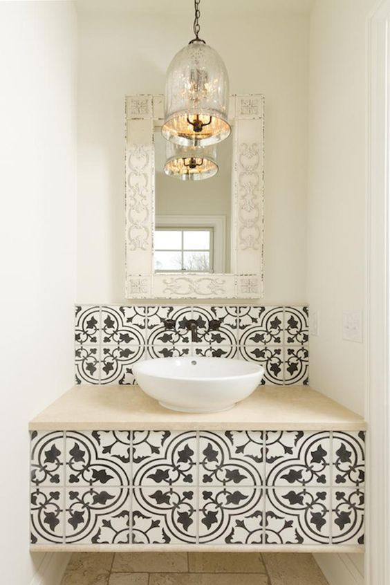 Cement Tile in the Bathroom