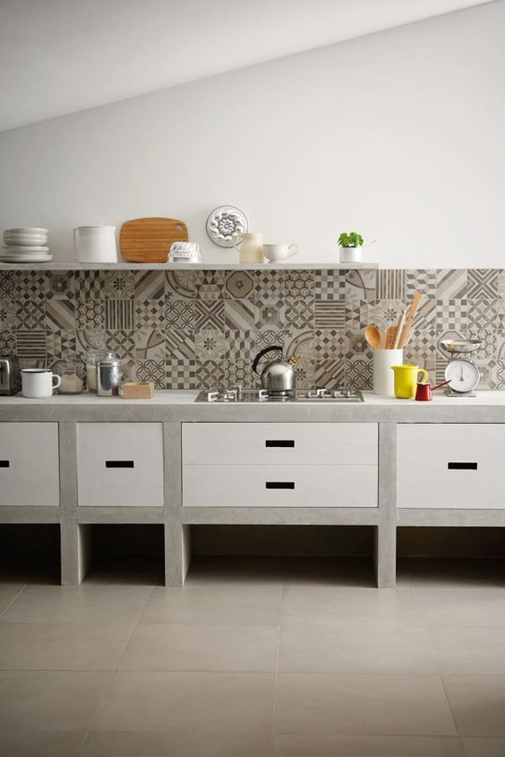 Cement Tile in the Kitchen