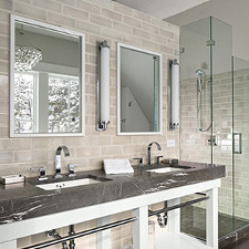 Ceramic Tile Bathroom Backsplash