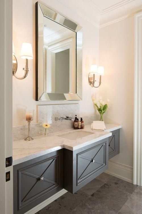 Floating Bathroom Vanity with Closed Storage