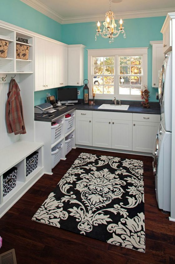 mud room and laundry room design