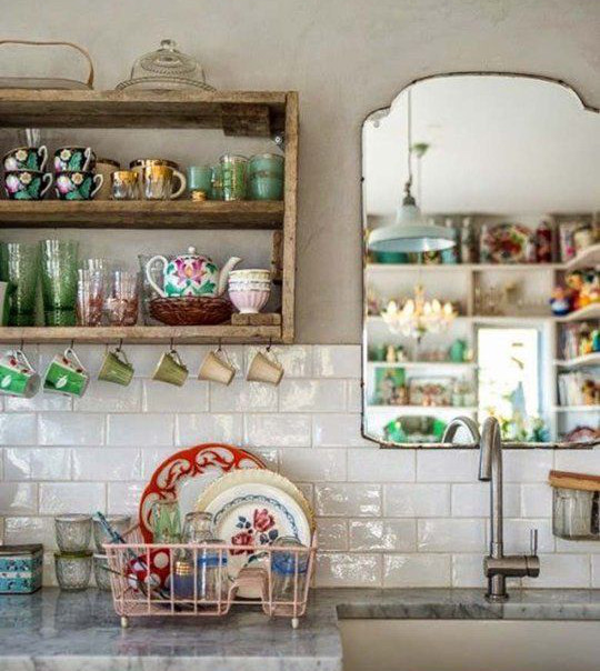 Farmhouse Kitchen Open Shelving