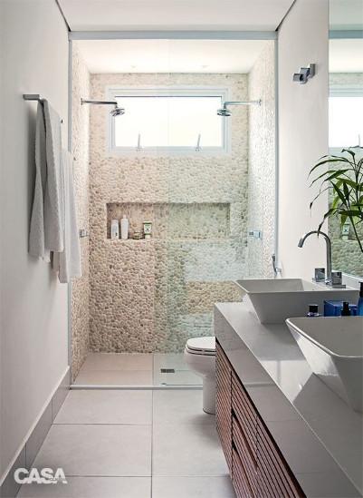 Pebble Shower Tile