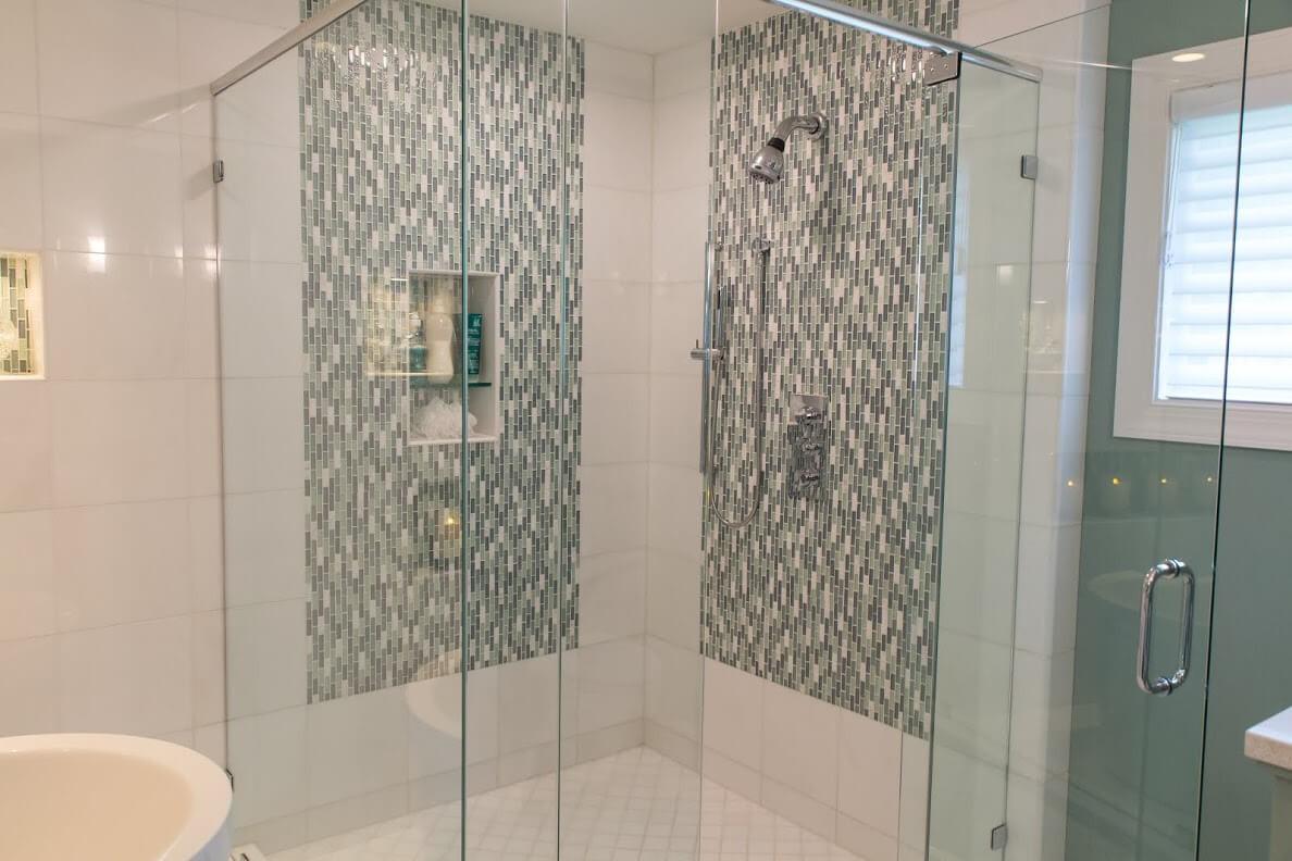 Tile Waterfall in Shower