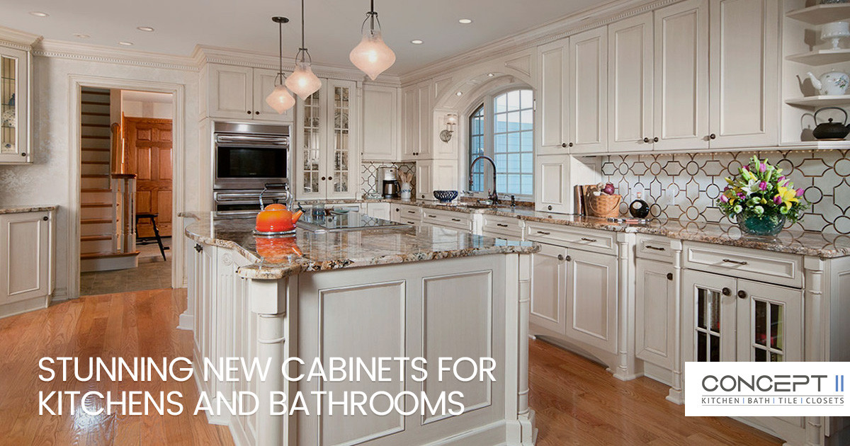 Stunning New Cabinets for Kitchens and Bathrooms