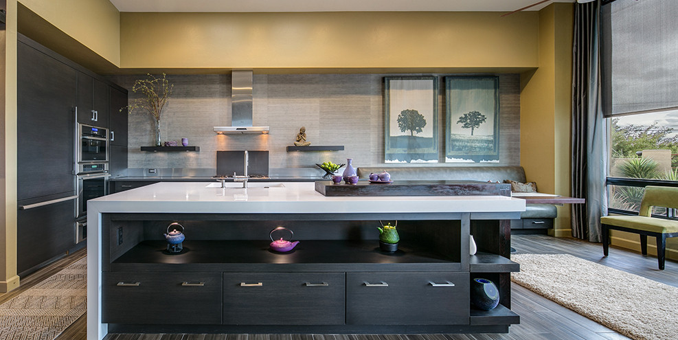 Gray Wood Mode Cabinets