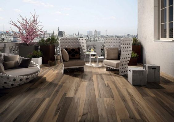 wood tile patio
