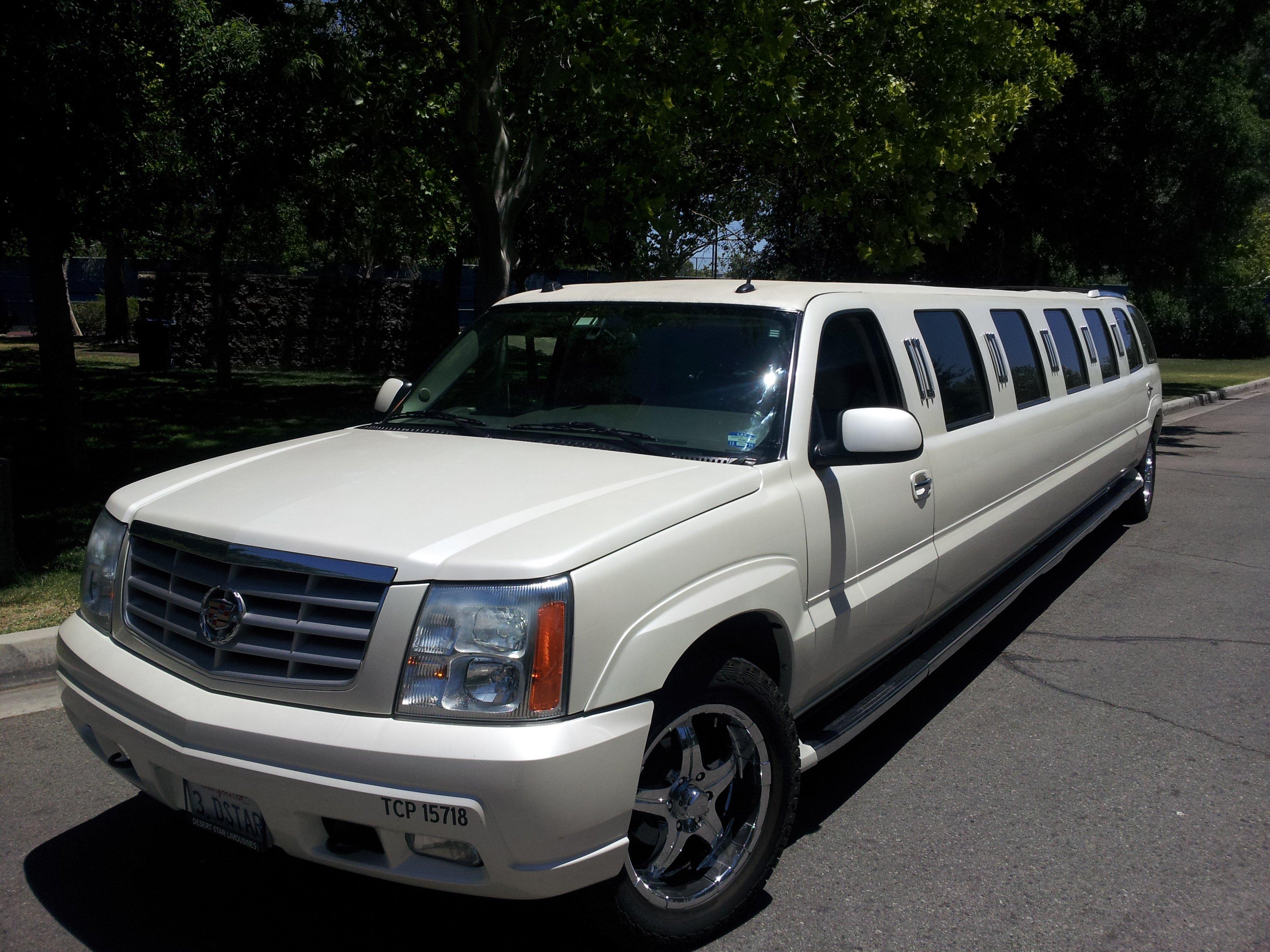 White Diamond Cadillac Escalade SUV Limousine | Desert ...