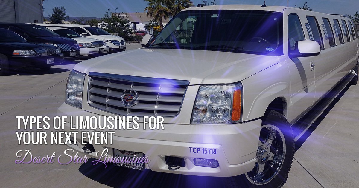 Types of Limousines for Your Next Event