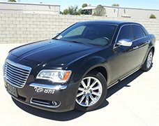 Black Chrysler 300 Sedan