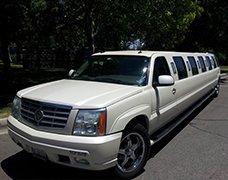 White Diamond Cadillac Escalade SUV Limousine