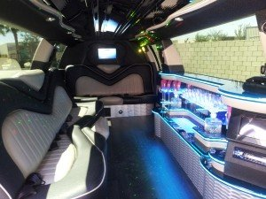 Stretch SUV Limo Interior