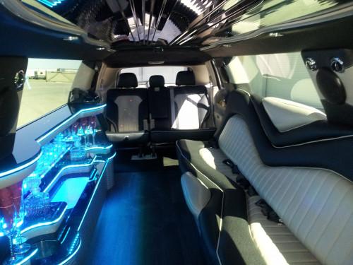 10 Passenger SUV Limo Interior