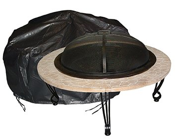 Large Outdoor Round Fire Pit Vinyl Cover