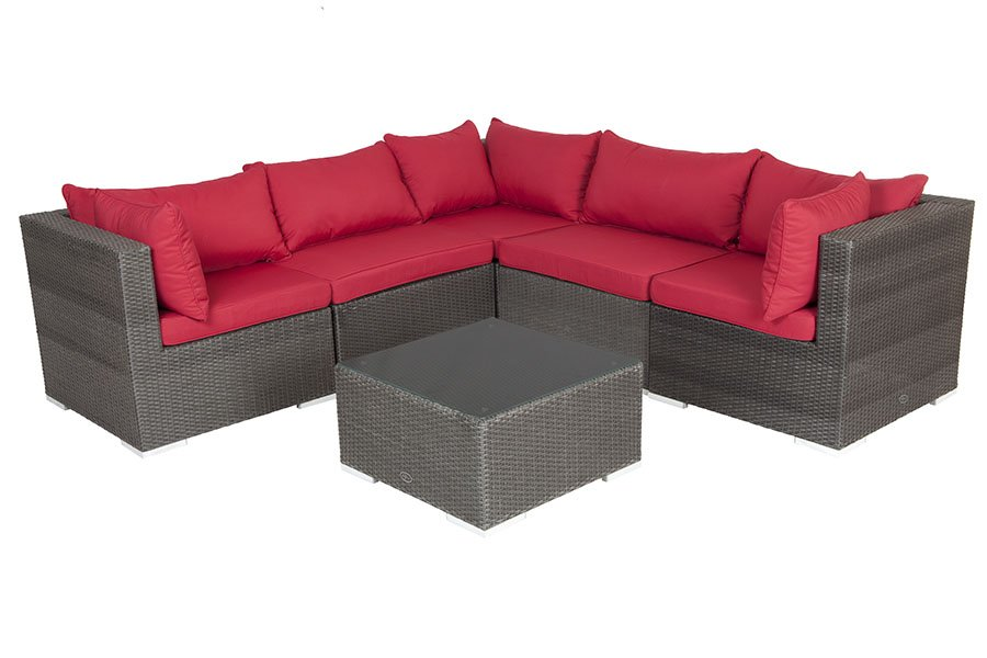 Sino Wicker Sofa Set With Coffee Table