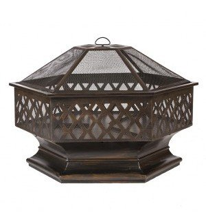 Ventura Hexagon Wood Burning Fire Pit