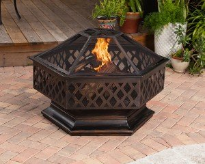 Ventura Hexagon Wood Burning Fire Pit