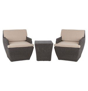 Bel Cubo Square Outdoor Wicker Bistro Set