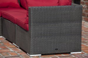 Sino Outdoor Wicker Sofa Set with Coffee Table