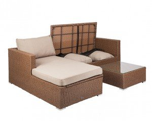 Tristano Outdoor Sofa Set with Coffee Table and Storage