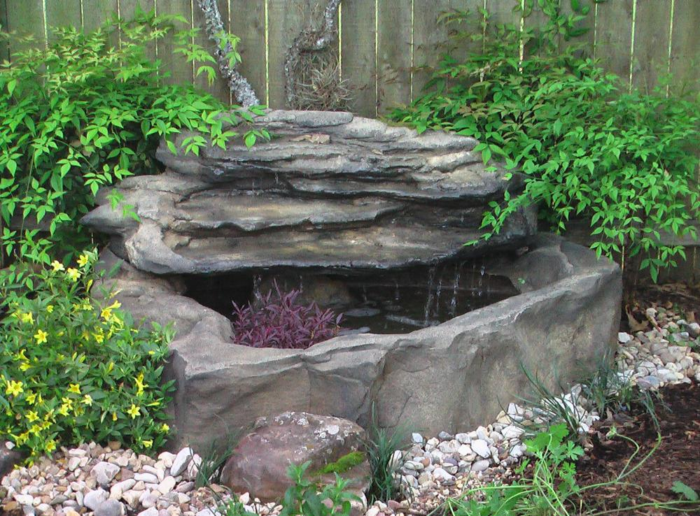 Small Patio Pond | Garden & Pond Products | Universal Rocks on Small Backyard Pond id=91533