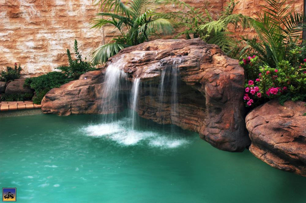 Waterfall cave 003 garden pond products universal rocks - How to build a swimming pool waterfall ...
