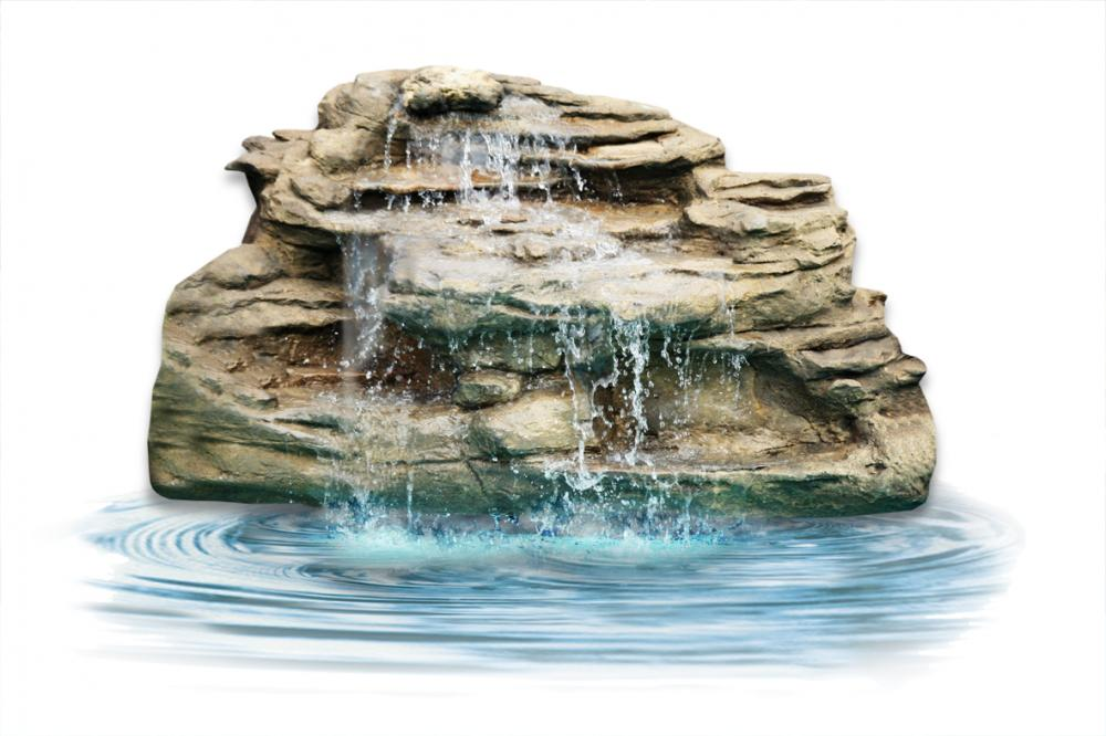 Ponds - pond waterfalls - waterfalls - Large Edge Waterfall-LEW-004
