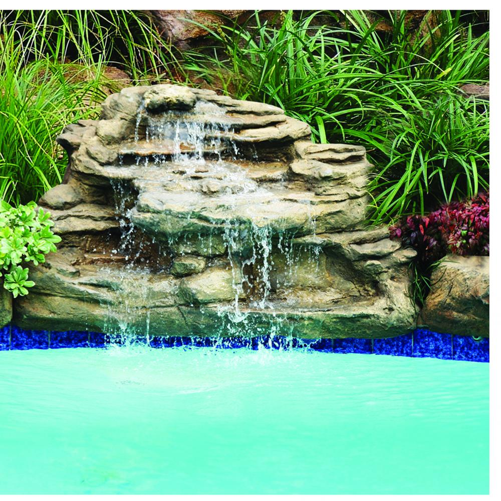 "Kits - Pool waterfall - ""Spirit Falls"" Complete Swimming Pool Waterfall kit - FREE SHIPPING!"