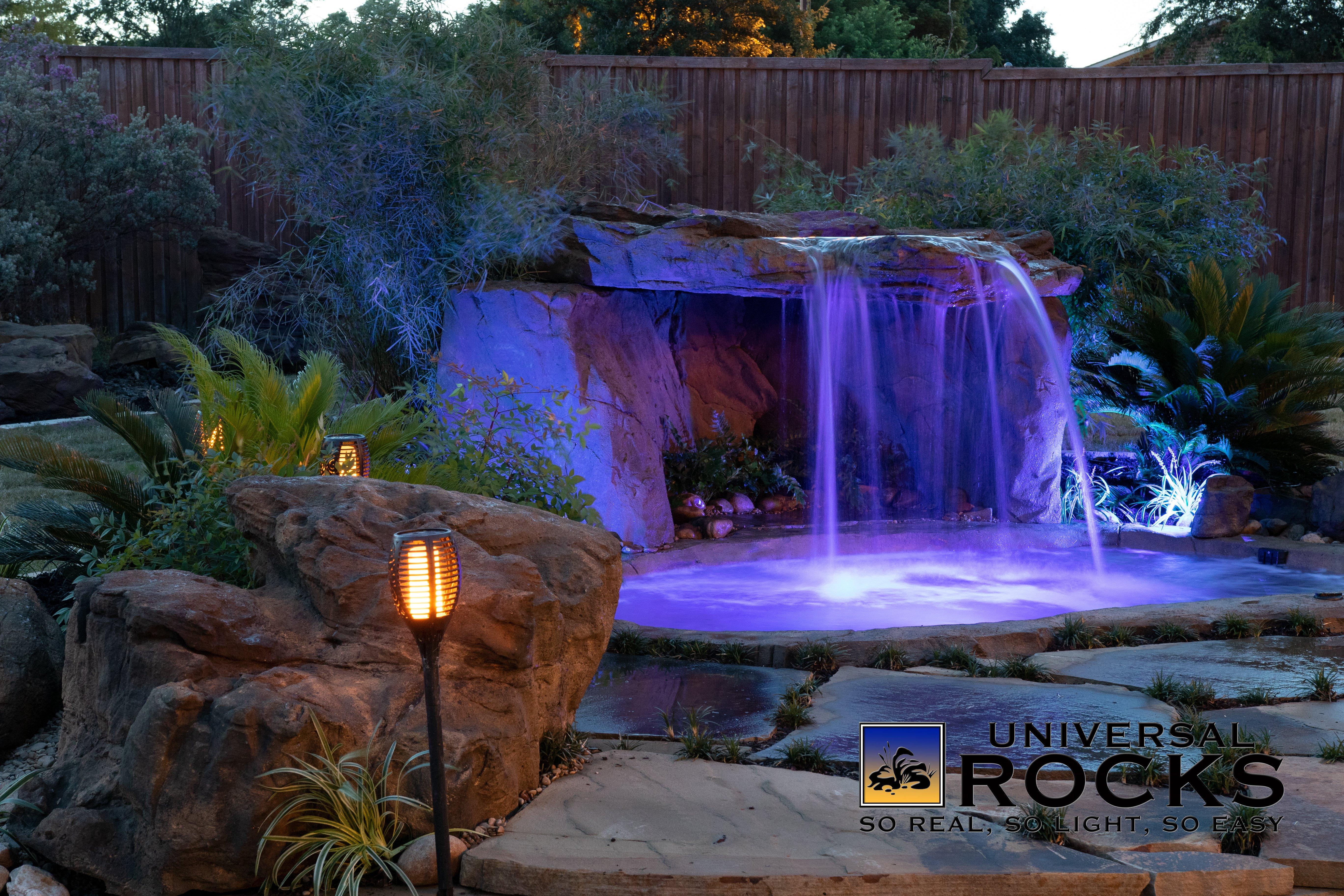 Custom Rock Hot Tubs Spas Universal Rocks