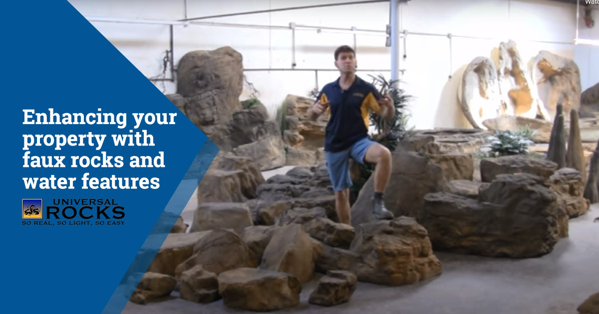 Enhance Your Property with Faux Rocks and Water Features