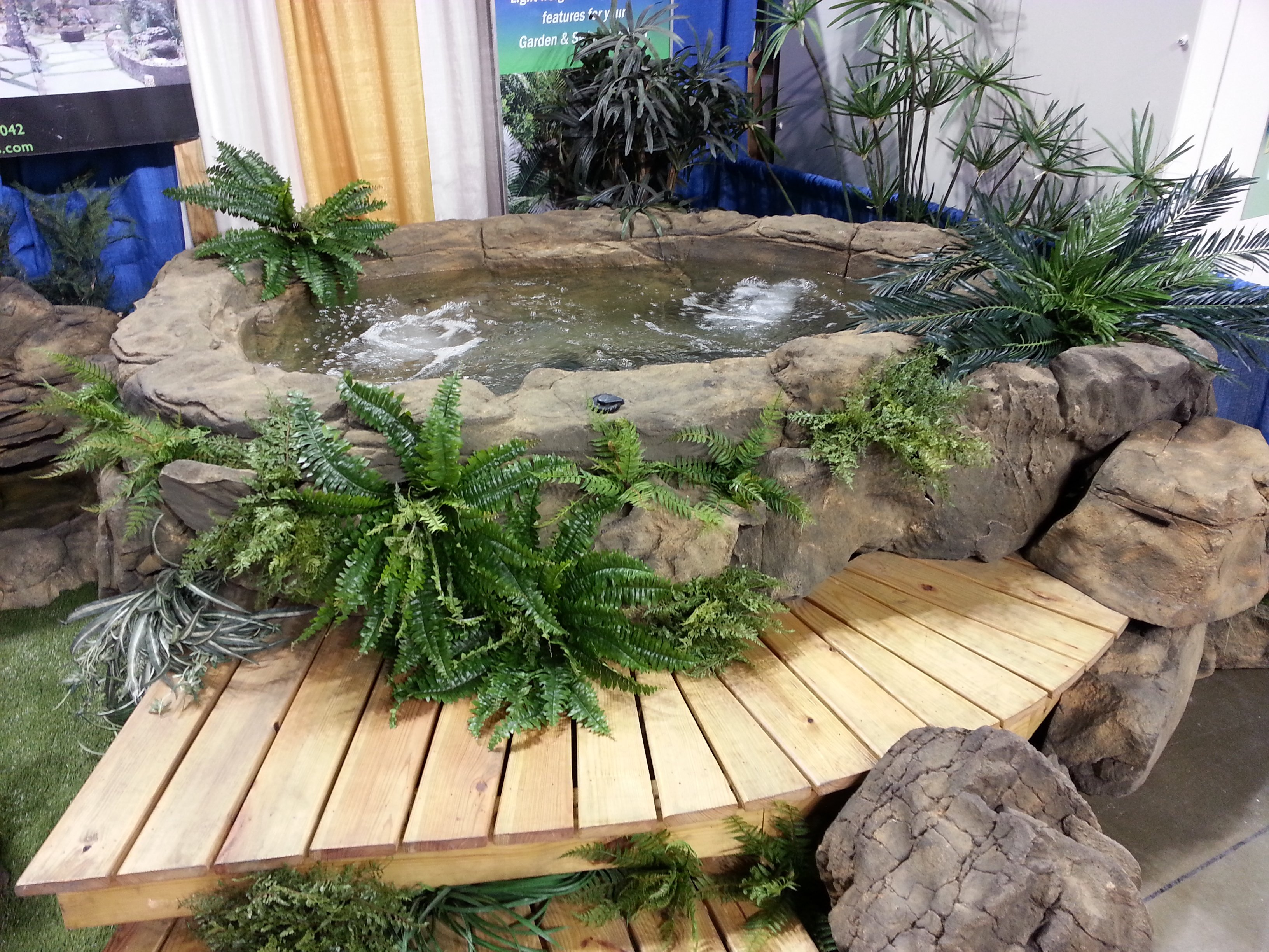 Custom Rock Hot Tubs