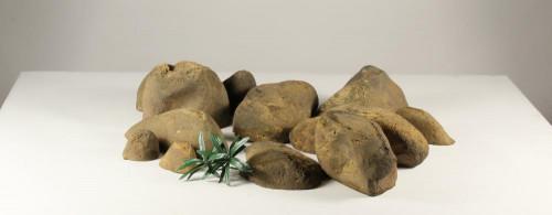 Stonecluster-001: Set of 12 river stones