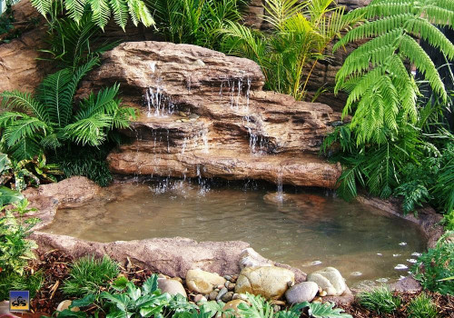 Ponds - pond waterfalls - waterfalls - Large Edge Waterfall-LEW-002